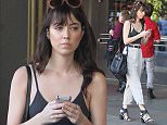 Aubrey Plaza fiddles with her mobile phone while out shopping at The Grove Featuring: Aubrey Plaza Where: Los Angeles, California, United States When: 26 Mar 2015 Credit: WENN.com