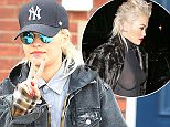 27.MARCH.2015 - LONDON - UK BRITISH SINGER RITA ORA WENT FOR THE CASUAL LOOK DRESSED IN DOUBLE DENIM WITH SUNGLASSES AND A BASEBALL CAP AS SHE LEFT THE DENTISTS IN LONDON.  BYLINE MUST READ : XPOSUREPHOTOS.COM ***UK CLIENTS - PICTURES CONTAINING CHILDREN PLEASE PIXELATE FACE PRIOR TO PUBLICATION *** UK CLIENTS MUST CALL PRIOR TO TV OR ONLINE USAGE PLEASE TELEPHONE 0208 344 2007**