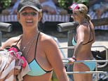 EXCLUSIVE: ** PREMIUM RATES APPLY** A bikini clad Britney Spears goes down a pool waterslide wearing snorkeling goggles while vacationing in Hawaii. \n\nPictured: Britney Spears\nRef: SPL984132  270315   EXCLUSIVE\nPicture by: Splash News\n\nSplash News and Pictures\nLos Angeles: 310-821-2666\nNew York: 212-619-2666\nLondon: 870-934-2666\nphotodesk@splashnews.com\n