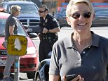 Los Angeles, CA - Ellen DeGeneres stops and talks with a cop while out in Los Angeles.  It doesn't appear that Ellen got a ticket, because it appeared the cop had someone else pulled over.\nAKM-GSI          March 27, 2015\nTo License These Photos, Please Contact :\nSteve Ginsburg\n(310) 505-8447\n(323) 423-9397\nsteve@akmgsi.com\nsales@akmgsi.com\nor\nMaria Buda\n(917) 242-1505\nmbuda@akmgsi.com\nginsburgspalyinc@gmail.com