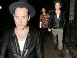 28.MAR.2015 - LONDON - UK\n* EXCLUSIVE ALL ROUND PICTURES *\nBRITISH ACTOR JUDE LAW SPORTING AN INDIANA JONES LOOK MINUS THE WHIP HEADING TO EX WIFE SADIE FROST'S SISTER'S 30TH BIRTHDAY PARTY IN LONDON\nBYLINE MUST READ : XPOSUREPHOTOS.COM\n***UK CLIENTS - PICTURES CONTAINING CHILDREN PLEASE PIXELATE FACE PRIOR TO PUBLICATION ***\n**UK CLIENTS MUST CALL PRIOR TO TV OR ONLINE USAGE PLEASE TELEPHONE 0208 344 2007**