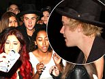 Justin Bieber poses with fans as he left Mastro's Steakhouse in Beverly Hills, CA  Pictured: Justin Bieber Ref: SPL986082  270315   Picture by: Roshan Perera / Splash News  Splash News and Pictures Los Angeles: 310-821-2666 New York: 212-619-2666 London: 870-934-2666 photodesk@splashnews.com