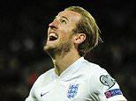 Harry Kane of England celebrates his first senior goal, 4-0