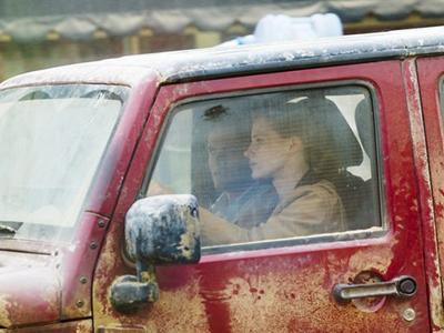 Кейси Аффлек и Джессика Честейн на съёмках фильма Интерстеллар