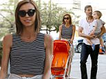 UK CLIENTS MUST CREDIT: AKM-GSI ONLY\nEXCLUSIVE: Giuliana Rancic pushing the empty baby stroller while husband Bill Rancic carry's their son in West Hollywood, CA.\n\nPictured: Giuliana Rancic and Bill Rancic\nRef: SPL986412  270315   EXCLUSIVE\nPicture by: AKM-GSI / Splash News\n\n