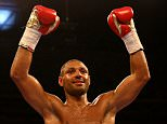 SHEFFIELD, ENGLAND - MARCH 28:  Kell Brook celebrates after beating Jo Jo Dan during their IBF World Welterweight Title Fight at the Motorpoint Arena on March 28, 2015 in Sheffield, England.  (Photo by Richard Heathcote/Getty Images)