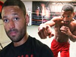 Kell Brook shows at the work out