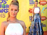 INGLEWOOD, CA - MARCH 28:  Rapper Iggy Azalea attends Nickelodeon's 28th Annual Kids' Choice Awards held at The Forum on March 28, 2015 in Inglewood, California.  (Photo by Steve Granitz/WireImage)