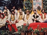 The Beatles and their wives at the Rishikesh in India with the Maharishi Mahesh Yogi, March 1968. The group includes Ringo Starr, Maureen Starkey, Jane Asher, Paul McCartney, George Harrison (1943 - 2001), Patti Boyd, Cynthia Lennon, John Lennon (1940 - 1980), Beatles roadie Mal Evans and Beach Boy Mike Love. (Photo by Hulton Archive/Getty Images)
