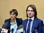 Raffaele Sollecito (C) speaks during a press conference in Rome on March 30, 2015, flanked by his lawyers Giulia Bongiorno (L) and Luca Maori. Italy's top court on March 27 has thrown out Raffaele Sollecito and Amanda Knox's conviction for the 2007 murder of British student Meredith Kercher, bringing a sensational end to an eight-year legal drama that has gripped a global audience.  AFP PHOTO / TIZIANA FABITIZIANA FABI/AFP/Getty Images