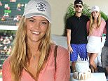 Mandatory Credit: Photo by Startraks Photo/REX (4588633l)  Reid Heidenry, Nina Agdal, Emil Brohus  Nina Agdal celebrates her Birthday at Lacoste Suite Miami Open, Miami Beach, America - 27 Mar 2015