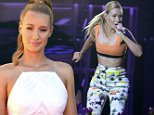 """HOLLYWOOD, CA - AUGUST 22:  Recording artist Iggy Azalea performs onstage during a 2014 """"MTV Video Music Awards"""" concert with Sam Smith And Iggy Azalea presented by Time Warner Cable and Lifebeat at Avalon on August 22, 2014 in Hollywood, California.  (Photo by Frazer Harrison/MTV1415/Getty Images for MTV)"""