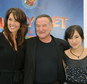 """FILE - In this Nov. 13, 2011 file photo, Susan Schneider, from left, Robin Williams, and Zelda Williams arrive at the premiere of  """"Happy Feet Two"""" at Grauman's Chinese Theater, in Los Angeles. Attorneys for Robin Williams¿ wife and children are headed to court in their battle over the late comedian¿s estate. The attorneys are scheduled to appear before a San Francisco probate judge on Monday, as they argue over who should get clothes and other personal items the actor kept at one his Northern California homes. In papers filed in December, Williams' wife, Susan, says some of the late actor's personal items were taken without her permission. She has asked the court to set aside the contents of the home she shared with Williams from the jewelry, memorabilia and other items Williams said the children should have.  (AP Photo/Katy Winn, File)"""
