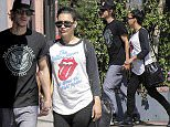 UK CLIENTS MUST CREDIT: AKM-GSI ONLY EXCLUSIVE: It appears that 'Glee' actress Naya Rivera doesn't mind showing her baby bump as the brunette was spotted in Glendale with her husband, Ryan Dorsey.  The couple enjoyed a relaxing afternoon brunch on Sunday while walking around in Glendale.  The husband and wife duo recently announced their pregnancy on Twitter in February and it appears that the actress is over the moon excited regarding their soon-to-be new addition to the family.  Pictured: Naya Rivera and Ryan Dorsey Ref: SPL987732  290315   EXCLUSIVE Picture by: AKM-GSI / Splash News