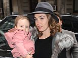 Tamara Ecllestone, husband Jay Rutland and daughter Sophia arriving at Cecconi's restaurant in Mayfair, London, UK. 29/03/2015..BYLINE MUST READ : GOTCHAIMAGES.COM....Copyright by © Gotcha Images Ltd. All rights reserved...Usage of this image is conditional upon the acceptance ..of Gotcha Images Ltd, terms and conditions available at..www.gotchaimages.com