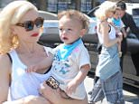 Headline: Gwen Stefani and baby Apollo exit from an acupuncture appointment in Los Angeles, CA Caption: Gwen Stefani and baby Apollo exit from an acupuncture appointment in Los Angeles, CA.  Pictured: Gwen Stefani and Apollo Rossdale Ref: SPL988155  300315   Picture by: Vladimir Labissiere/Splash News  Splash News and Pictures