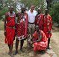 """Mandatory Credit: Photo by Arild Molstad/REX (830796c).. Barack Obama with Maasai """"mamas"""".. Barack Obama visits Basecamp Masai Mara in Kenya  - 2007.. These pictures recently obtained by Rex Features show an, at the time, relatively unknown Barack Obama visiting Kenya. Basecamp Masai Mara in Mara National Reserve in Kenya is a Scandinavian initiative that aims to develop a partnership with the native Masai people. Unsurprisingly, given its inclusionist goals and message, it was the camp's impressive record that drew a famous visitor to it in 2007 - the then relatively unknown US Senator Barrack Obama. During his visit to the camp Obama and his family were thoroughly briefed on the three Ps concept that the camp lives by - People, Planet, Profit; local principles that Obama now aims to apply on the world stage. And Obama's visit certainly seems to have left an impression. Even today at the local Masai school the children happily run round with Obama caps on their heads, chanting the by"""