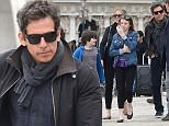 29.MARCH.2015 - VENICE - ITALY **EXCLUSIVE ALL ROUND PICTURES** COMIC ACTOR BEN STILLER WITH HIS WIFE CHRISTINE TAYLOR AND DAUGHTER ELLA OLIVIA AND SON QUINLIN DEMPSEY VISITING THE PALAZZO DUCALE ON VACATION IN VENICE, ITALY *AVAILABLE FOR UK SALE ONLY* BYLINE MUST READ : CIAO PIX/XPOSUREPHOTOS.COM ***UK CLIENTS - PICTURES CONTAINING CHILDREN PLEASE PIXELATE FACE PRIOR TO PUBLICATION *** *UK CLIENTS MUST CALL PRIOR TO TV OR ONLINE USAGE PLEASE TELEPHONE 0208 344 2007**
