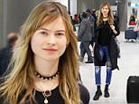 Behati Prinsloo arriving at Roissy CDG airport. 30 March 2015.  30 March 2015. Please byline: Vantagenews.co.uk