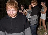 Ed SHeeran out in Adeliaide posting for photos with fans\n(EXC - JCPIX) Ed Sheeran dines out at River Cafe in Adelaide and happily meets fans