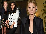 NEW YORK, NY - MARCH 30:  Models Toni Garrn and Irina Shayk attend the Dsquared's Dean and Dan Caten hosted dinner at Indochine to celebrate New York Flagship Opening at Indochine on March 30, 2015 in New York City.  (Photo by Dimitrios Kambouris/Getty Images for DSQUARED2)