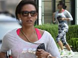 EXCLUSIVE: Mel B kicks her monday morning off with a power walk & some jogging after having a healthy breakfast in Los Angeles.  Pictured: Mel B Ref: SPL987364  300315   EXCLUSIVE Picture by: M A N I K (NYC)/Splash News  Splash News and Pictures Los Angeles: 310-821-2666 New York: 212-619-2666 London: 870-934-2666 photodesk@splashnews.com