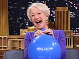 THE TONIGHT SHOW STARRING JIMMY FALLON -- Episode 0235 -- Pictured: (l-r) Actress Helen Mirren during an interview with host Jimmy Fallon on March 30, 2015 -- (Photo by: Douglas Gorenstein/NBC/NBCU Photo Bank via Getty Images)