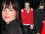 134947, Katy Perry, Cara Delevingne, Dakota Johnson, Mia Moretti seen holding hands as they exit Karl Lagerfeld's Chanel Party on a Yacht at Chelsea Piers. New York, New York - Monday March 30, 2015. Photograph: © PJL, PacificCoastNews. Los Angeles Office: +1 310.822.0419 sales@pacificcoastnews.com FEE MUST BE AGREED PRIOR TO USAGE