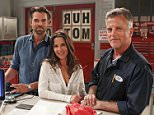 """GENERAL HOSPITAL - Duncan Hursley, the grandson of """"General Hospital"""" creator Frank Hursley, guest stars on """"General Hospital"""" on FRIDAY, JUNE 27 (2:00 p.m., ET/1:00 p.m., PT/CT) on the ABC Television Network.  Duncan will play Mechanic Bill, the owner of a car repair shop/garage. In this episode, Patrick (Jason Thompson) visits the shop with Sam (Kelly Monaco) to get Mechanic Bill to offer up confidential client information.\n(Photo by Rick Rowell/ABC via Getty Images) *** Local Caption *** JASON THOMPSON; KELLY MONACO; DUNCAN HURSLEY \nJASON THOMPSON, KELLY MONACO, DUNCAN HURSLEY"""
