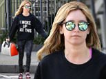 Picture Shows: Ashley Tisdale  March 31, 2015\n \n 'High School Musical' star Ashley Tisdale lets the world know that she looks great when she wakes up as she leaves the gym after a morning workout in West Hollywood, California. \n \n Ashley is due to return to acting full-time with co-star George Wendt in the TBS comedy 'Buzzy's,' which is due to air this year.\n \n Non Exclusive\n UK RIGHTS ONLY\n \n Pictures by : FameFlynet UK © 2015\n Tel : +44 (0)20 3551 5049\n Email : info@fameflynet.uk.com