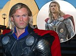 Chris Hemsworth as Thor and the other super heroes that have arrived at Madame Tussauds Sydney