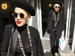 Mandatory Credit: Photo by Beretta/Sims/REX (4600540a)\n Rita Ora\n Rita Ora out and about, London, Britain - 31 Mar 2015\n Rita was wearing possibly the same see-through black turtle neck top that she wore to the Charlie XCX gig a few days previously - this time however, the singer had learnt from her mistake and had sensibly chosen to wear a bra underneath...\n