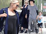 Please contact X17 before any use of these exclusive photos - x17@x17agency.com   Pregnant Ashlee Simpson and Evan Ross have lunch with Bronx in Toluca Lake and it looks like Evan is having a lot of fun playing around with Bronx, whose father is Pete Wentz. March 31, 2015 X17online.com EXCL
