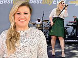 LOS ANGELES, CA - APRIL 01:  Singer Kelly Clarkson performs onstage for Chevrolet's Best Day Ever with iHeartRadio at The Grove on April 1, 2015 in Los Angeles, California.  (Photo by Christopher Polk/Getty Images for iHeartMedia)
