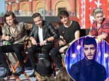 """ORLANDO, FL - NOVEMBER 17:  Harry Styles, Liam Payne, Louis Tomlinson and Niall Horan of One Direction appear on NBC's Today Show to release their new album """"Four at Universal City Walk At Universal Orlando on November 17, 2014 in Orlando, Florida.  (Photo by Gustavo Caballero/Getty Images)"""