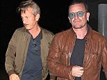 West Hollywood, CA - Sean Penn arrives solo for dinner at Craig's Restaurant. Bono, Boy George, Alec and Hilaria Baldwin were also spotted at the trendy West Hollywood restaurant tonight. Seanís girlfriend Charlize Theron was not able to make it as she promoted her latest film ëDark Placesí at the Paris premiere.\nAKM-GSI          March 31, 2015\nTo License These Photos, Please Contact :\nSteve Ginsburg\n(310) 505-8447\n(323) 423-9397\nsteve@akmgsi.com\nsales@akmgsi.com\nor\nMaria Buda\n(917) 242-1505\nmbuda@akmgsi.com\nginsburgspalyinc@gmail.com