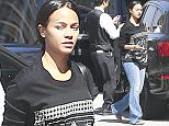 """Picture Shows: Zoe Saldana  March 30, 2015    """"Guardians of the Galaxy"""" actress and busy mom Zoe Saldana is spotted heading to a meeting in Beverly Hills, California.     Zoe, who gave birth to twins Cy and Bowie in November, has shown no signs of slowing down and has many upcoming movie projects including 'Star Trek 3,' 'Avatar 2,' and a Nina Simone biopic.     Exclusive - All Round  UK RIGHTS ONLY    Pictures by : FameFlynet UK    2015  Tel : +44 (0)20 3551 5049  Email : info@fameflynet.uk.com"""