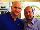 JOHN HARTSON POSES WITH FORMER WEST HAM TEAM-MATE BERKOVIC.