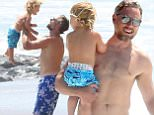 Picture Shows: Ace Johnson, Eric Johnson  April 01, 2015\n \n Jessica Simpson's husband Eric Johnson spends the day with his kids Maxwell and Ace on the beach with friends in Santa Monica, California. Eric took Ace into the ocean and then tossed him up and down. \n \n Non-Exclusive\n UK RIGHTS ONLY\n \n Pictures by : FameFlynet UK © 2015\n Tel : +44 (0)20 3551 5049\n Email : info@fameflynet.uk.com