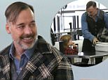 Picture Shows: David Furnish, Zachary John-Furnish  April 1, 2015\n \n Filmmaker David Furnish catches a flight out of LAX Airport with his boys Zachary and Elijah in Los Angeles, California.\n \n David led Zachary through the security line, including the metal detector.\n \n Non-Exclusive\n UK RIGHTS ONLY\n \n Pictures by : FameFlynet UK © 2015\n Tel : +44 (0)20 3551 5049\n Email : info@fameflynet.uk.com