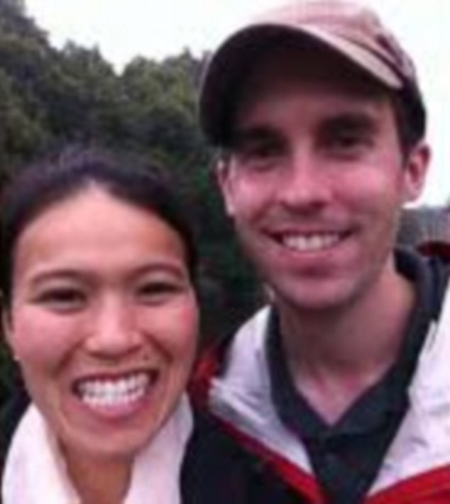David Messerschmitt (pictured with his wife Kim) was found dead in his DC hotel room in February. Police have not revealed exactly what he was doing at the hotel. A computer, lubricant, condoms, cell phone and enema were recovered from the scene