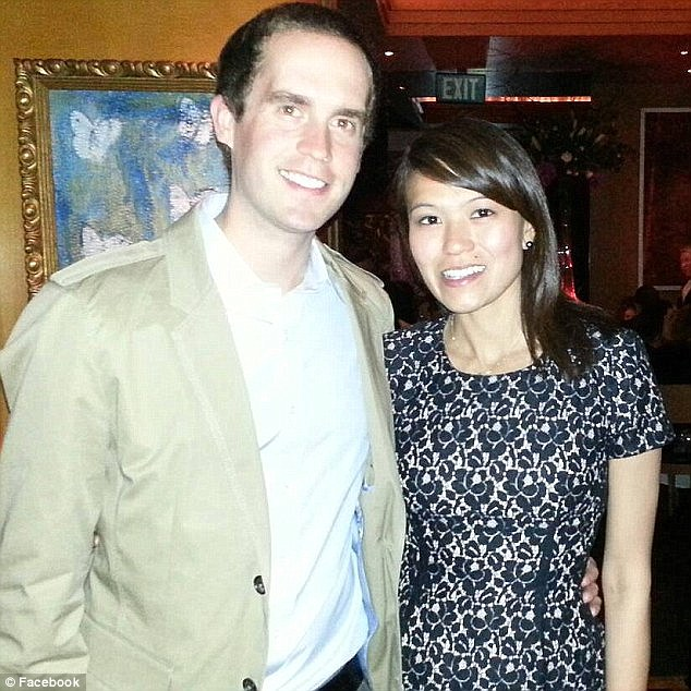 Widowed: Messerschmitt texted his wife Kim Vuong on February 9 that he would be home in an hour but never showed. Police still haven't said what he was doing at the hotel