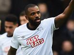 Darren Bent of Derby County celebrates his first half goal during the FA Cup Fourth Round match between Derby County and Chesterfield (2-0) at iPro Stadium on January 24, 2015 in Derby, England.  (Photo by Laurence Griffiths/Getty Images)