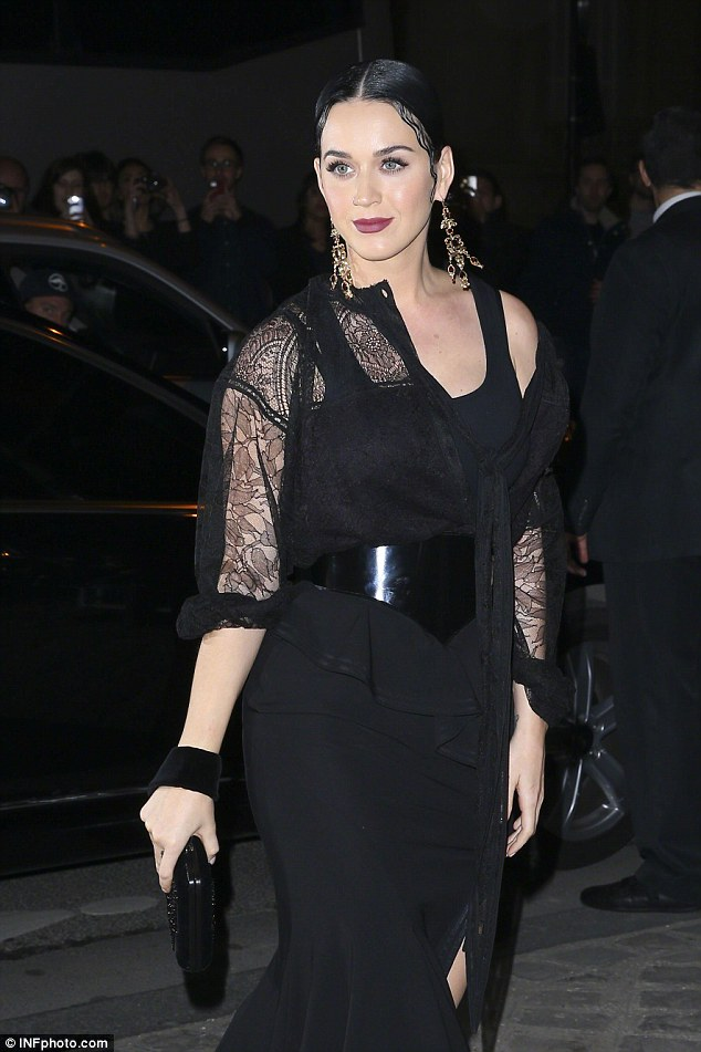 Back to her roots: In recent weeks the 30-year-old star wore her hair black and shoulder length