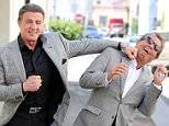 EXCLUSIVE: Sylvester Stallone playfully punches a look-alike suit-wearing pal.  Pictured: Sylvester Stallone Ref: SPL989846  010415   EXCLUSIVE Picture by: KAT / Splash News  Splash News and Pictures Los Angeles: 310-821-2666 New York: 212-619-2666 London: 870-934-2666 photodesk@splashnews.com