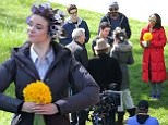 Picture Shows: Grant Gustin, Robbie Amell, Danielle Panabaker, Candice Patton, Rick Cosnett  April 01, 2015\n \n Stars from the hit TV series 'The Flash' rehearse a wedding scene in Vancouver, Canada. The cast were in good spirits and waved to the camera between takes. \n \n Exclusive - All Round\n UK RIGHTS ONLY\n \n Pictures by : FameFlynet UK © 2015\n Tel : +44 (0)20 3551 5049\n Email : info@fameflynet.uk.com