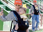 1.APRIL.2015 -CALIFORNIA - USA  *** EXCLUSIVE ALL ROUND PICTURES AVAILABLE FOR UK ONLY *** NO DOUBT FRONTWOMAN GWEN STEFANI TAKES HER YOUNGEST SON APOLLO TO UNDERWOOD FAMILY FARM IN CALIFORNIA. THE YUMMY MUMMY WHO WAS WEARING BAGGY OVERALLS, ADIDAS TRAINERS AND A BRIAN LITCHENBERG HOMIES HAT POSED FOR A SELFIE WITH HER YOUNG SON. BYLINE MUST READ : XPOSUREPHOTOS.COM ***UK CLIENTS - PICTURES CONTAINING CHILDREN PLEASE PIXELATE FACE PRIOR TO PUBLICATION ***