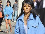 Rihanna Arrives Jimmy Kimmel  Pictured: Rihanna Ref: SPL989870  010415   Picture by: Photographer Group / Splash News  Splash News and Pictures Los Angeles: 310-821-2666 New York: 212-619-2666 London: 870-934-2666 photodesk@splashnews.com