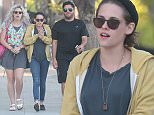 EXCLUSIVE TO INF. April 1, 2015: Kristen Stewart seen out with friends after lunching at a restaurant in Los Angeles, CA. Mandatory Credit: Mariotto/INFphoto.com Ref.: infusla-244