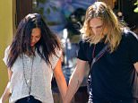 West Hollywood, CA - Zoe Saldana and Marco Perego end a lunch date together at Ago Restaurant in West Hollywood. The lovebirds exited with their hair down and looking down as they made their way back to their car after a short break away from their babies. AKM-GSI      April  1, 2015 To License These Photos, Please Contact : Steve Ginsburg (310) 505-8447 (323) 423-9397 steve@akmgsi.com sales@akmgsi.com or Maria Buda (917) 242-1505 mbuda@akmgsi.com ginsburgspalyinc@gmail.com